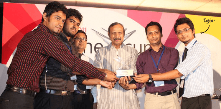 Getting Award at Imagine Cup Bangladesh 2011