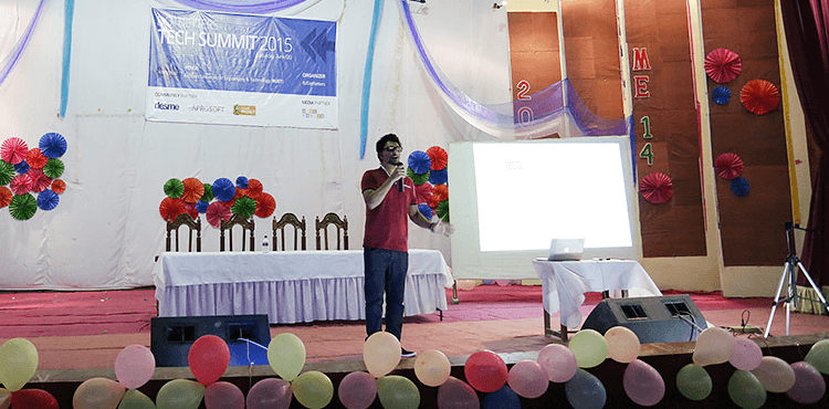 Speaker at DotNetters Tech Summit 2015, Rajshahi University of Engineering & Technology